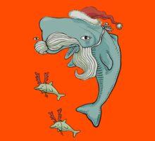 Christmas Whale Kids Tee