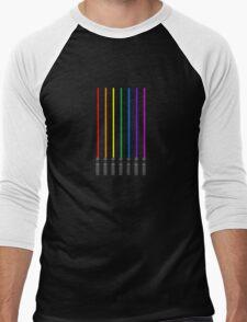 Lightsaber Rainbow Men's Baseball ¾ T-Shirt