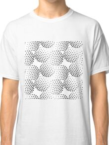 Pattern with abstract circles gradation, black and white Classic T-Shirt