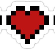 Minecraft Hearts! Sticker