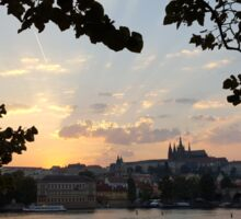 Prague at Sunset Sticker