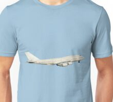 747 withe with landing gear Unisex T-Shirt