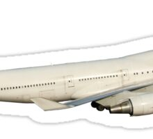 747 withe with landing gear Sticker