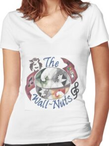 Wall-Nuts Official Logo Women's Fitted V-Neck T-Shirt