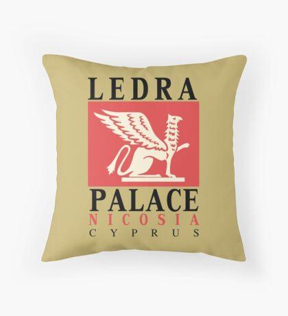 Retro vintage Ledra Palace Hotel Nicosia Cyprus Throw Pillow