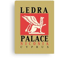 Retro vintage Ledra Palace Hotel Nicosia Cyprus Canvas Print