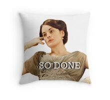 Lady Mary from Downton Abbey Throw Pillow