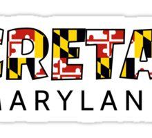 Secretary Maryland flag word art Sticker