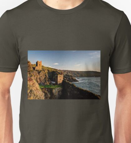 Crown Tin Mines at sunset Unisex T-Shirt