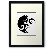 Yin Yang Cats Framed Print