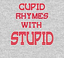 Cupid Rhymes With Stupid Anti-Valentine Women's Fitted Scoop T-Shirt