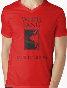 White Fang Jack London book cover Mens V-Neck T-Shirt