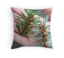 Handsome Conifer Throw Pillow