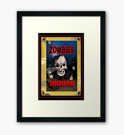 The Zombies Underground Framed Print