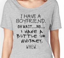 Funny Anti Valentine Bottle of Whiskey Women's Relaxed Fit T-Shirt
