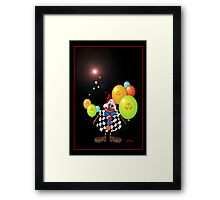 Spooky Clown Framed Print