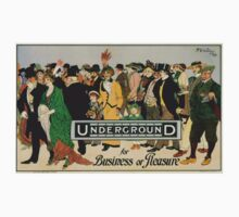 Vintage poster - London Underground One Piece - Long Sleeve