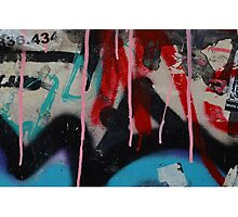 Graffiti with paint drips Photographic Print