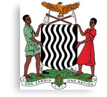 Coat of Arms of Zambia  Canvas Print
