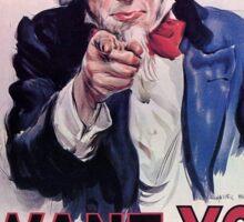 Uncle Sam, 1917 Sticker