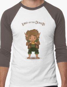 frodo, lord of the rings, donut Men's Baseball ¾ T-Shirt