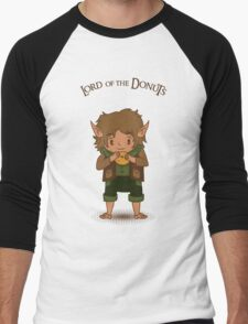 frodo, lord of the rings, donut Men's Baseball ¾ T-Shirt