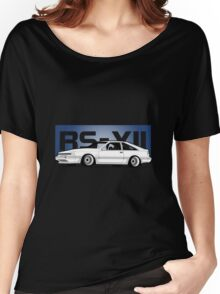 RS-XII Blue Hatch Women's Relaxed Fit T-Shirt