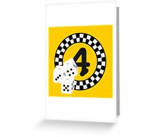 Bunco Dices - Table No Four VRS2 Greeting Card