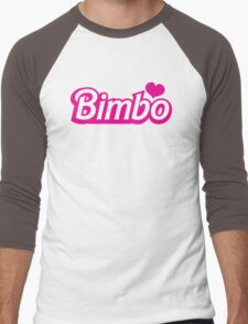 Bimbo in cute little dolly doll font Men's Baseball ¾ T-Shirt