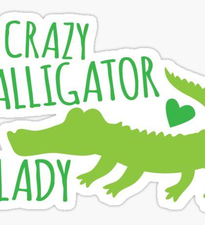 Crazy Alligator Lady Sticker