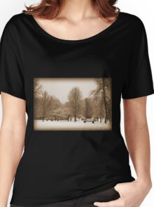 A Winter's Scene Women's Relaxed Fit T-Shirt