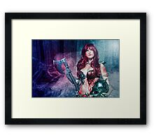 Red Sonja cosplay - after the bloodbath Framed Print