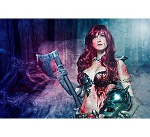 Red Sonja cosplay - after the bloodbath Photographic Print
