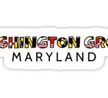 Washington Grove Maryland flag word art Sticker