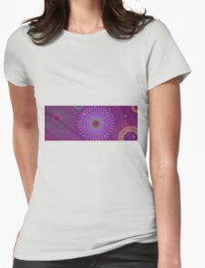 Psychedelic Space Spyrographs  Womens Fitted T-Shirt