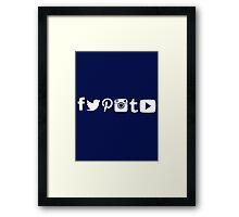 Social Media Framed Print