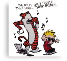 Calvin And Hobbes Dance Canvas Print