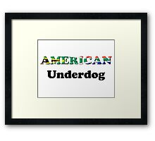 American Underdog - South Africa Framed Print
