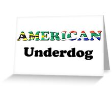American Underdog - South Africa Greeting Card