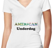 American Underdog - South Africa Women's Fitted V-Neck T-Shirt