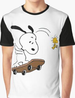 Snoopy Skate Graphic T-Shirt