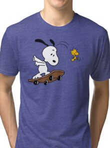 Snoopy Skate Tri-blend T-Shirt