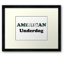 American Underdog - Nigeria Framed Print