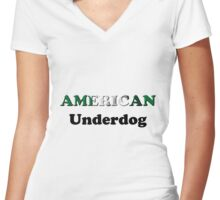 American Underdog - Nigeria Women's Fitted V-Neck T-Shirt