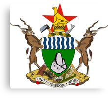 Coat of Arms of Zimbabwe  Canvas Print