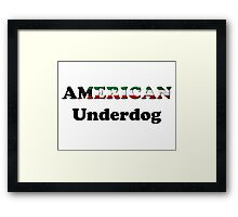 American Underdog - Kuwait Framed Print
