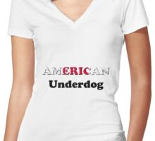 American Underdog - Japan Women's Fitted V-Neck T-Shirt