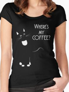 Where's my COFFEE? Women's Fitted Scoop T-Shirt