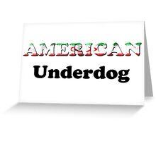 American Underdog - Iran Greeting Card