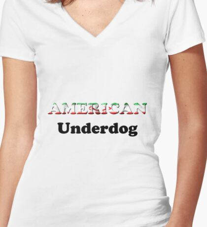 American Underdog - Iran Women's Fitted V-Neck T-Shirt